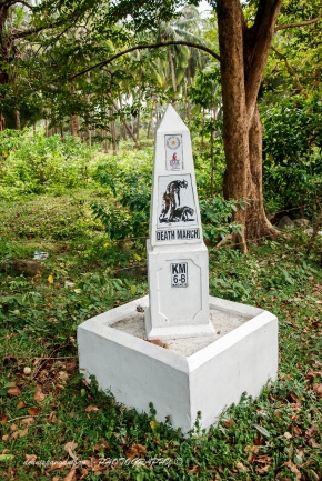 Kilometer marker of the Death March.